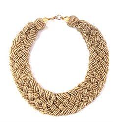 Carrie Sead Bead Braided Necklace #WildLiliesJewelry #bestforless #statement #necklace #bold #gold