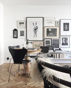 posters on the wall in Scandinavian style living room