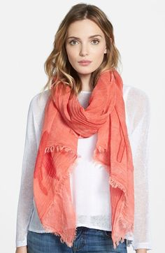 Eileen Fisher Cotton & Modal Jacquard Scarf available at #Nordstrom