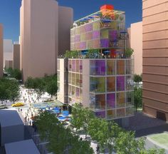 Micro-apartments offer small space living but lots of gardens and social space.