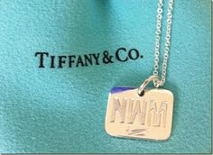 Front of Tiffany necklace