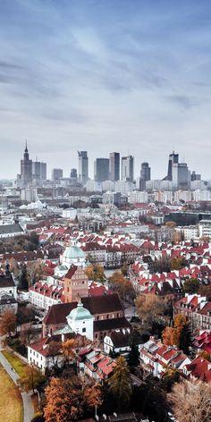 Warszawa Places Around The World, Around The Worlds, Wonderful Places, Beautiful Places, Places To Travel, Places To Visit, Poland Travel, Warsaw Poland, City Landscape