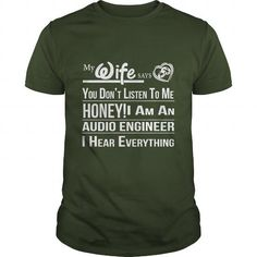 FUNNY AUDIO ENGINEER T Shirts, Hoodies. Get it here ==► https://www.sunfrog.com/LifeStyle/FUNNY-AUDIO-ENGINEER-Forest-Guys.html?57074 $21.99
