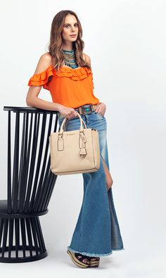 BLUSA-S155084-COLLAR-S503151-FALDA-S034815-BOLSO-S401562-CALZADO-S161400 Hermes Kelly, Denim Skirt, Fancy, Colorful, Boho, Sexy, Skirts, Cute, How To Wear
