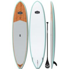 VESL Bamboo Eco Series 11'0 Paddle Board Package Sea Foam - Light Weight - Paddle Surf Warehouse