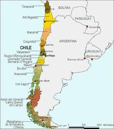 Mapa de Chile para imprimir - colorearrr