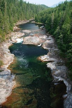 Nimpkish River in Woss, Northern Vancouver Island, British Columbia, Canada by BCVacation British Columbia, Rocky Mountains, West Coast Canada, Yellowstone Nationalpark, Alaska, Nature Sauvage, Destinations, Seen, World Pictures