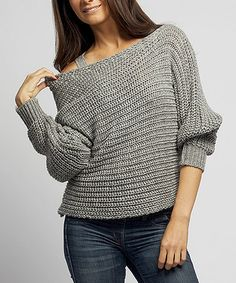 Take a look at this Gray Wool-Blend Boatneck Sweater by Sisters on #zulily today!