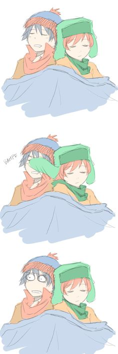 Cartman did unconsciously. lol Of course,Kenny didn't watch movie. By kaya In the Stan's house Kyle South Park, South Park Funny, South Park Anime, South Park Fanart, Creepy Sketches, South Park Characters, Kyle Broflovski, Stan Marsh, South Padre Island