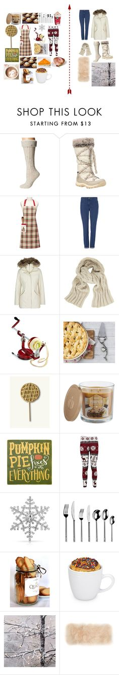 """""""Winter inside, or outside? Comment your Fave!"""" by unidoodle ❤ liked on Polyvore featuring UGG Australia, Timberland, Woolrich John Rich & Bros, John Lewis, Martha Stewart, Vagabond House, SONOMA Goods for Life, Sara's Signs, Bling Jewelry and Arthur Price"""