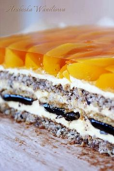 "Ciasto ""Kora orzechowa"" Baking Recipes, Cake Recipes, Dessert Recipes, Cake Bars, Polish Recipes, Cookie Desserts, Homemade Cakes, Cake Cookies, Quiche"