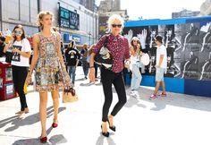 CUTE DRESS ON RIGHT.  Ellen von Unwerth (right)