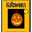 Halloween Quick Common Core Literacy is a packet of ten different worksheets featuring a fun Halloween theme focusing on the English grammar and mo...