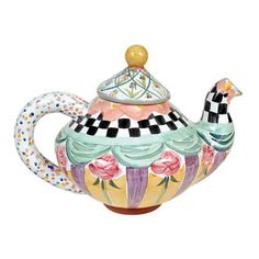 This teapot is from Mackenzie-Childs. It reminds me of the work of Mary Engelbreit...