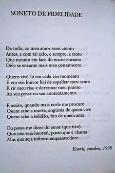 Vinicius de Moraes - Soneto da Fidelidade