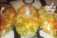 Derin Dondurucuya Garnitür Yapılışı Tarifi No Gluten Diet, Fresh Rolls, Food Art, Baked Potato, Pickles, Sushi, Food And Drink, Pasta, Stuffed Peppers