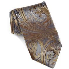 Men's Canali Paisley Silk Tie (6.455 RUB) ❤ liked on Polyvore featuring men's fashion, men's accessories, men's neckwear, ties, brown, mens silk ties, mens ties and mens paisley ties