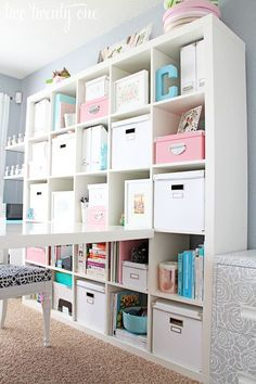 Home Office #Organization Ideas #Storage  http://www.laladecor.com/