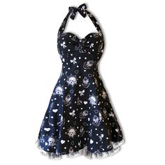 nautical halter neck dress