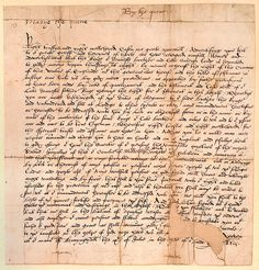 Queen Mary I's letter to Sir Edward Hastings, 1553.