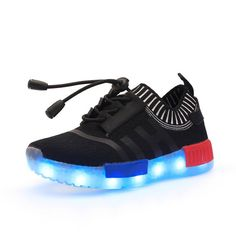 Dependable Quality 7 Colors Kids Led Runnig Shoes High Top Children Growing Sneakers For Boys Girls Luminous Lights Sport Solid Athletic To Reduce Body Weight And Prolong Life Boys