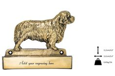 Clumber dog plaque can be engraved limited by ArtDogshopcenter