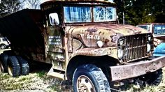 Abandoned army truck.