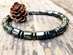 ANKLET Magnetic Therapy Classic Black Ankle Bracelet Custom Sized Pain Relief Hematite Wellness Health FREE Gift Tag Bag Token by PineBranchDesigns on Etsy https://www.etsy.com/listing/236108151/anklet-magnetic-therapy-classic-black