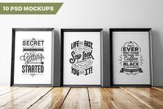 10 PSD MOCKUPS by Pikcha on @creativemarket