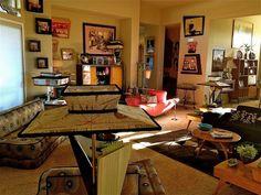 Amazing mid-century living room from Hepcat's Restorations. #vintagedecor #vintagehomes