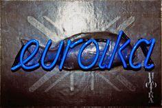 bob jahnke  Euroika (1998)  MDF, lead, neon  Dimensions vary