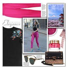 """Elegance style"" by selma3355 ❤ liked on Polyvore featuring Tara Jarmon, Manic Panic NYC and Lancôme"