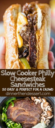 Slow Cooker Philly Cheese Steak Sandwiches is Tasty ! You must see the complete recipes. Slow Cooker Philly Cheese Steak Sandwiches is Tasty ! You must see the complete recipes. Crock Pot Recipes, Slow Cooker Recipes, Beef Recipes, Cooking Recipes, Crockpot Meals, Cooking Tips, Chicken Recipes, Recipes For A Crowd, Meat Recipes