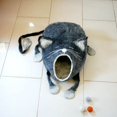 Hey, I found this really awesome Etsy listing at https://www.etsy.com/listing/230345262/cat-bed-cat-cave-cat-house-felted-cat