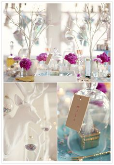LOVE the confetti filled clear x-mas balls.  DO THIS...hang from ceiling!