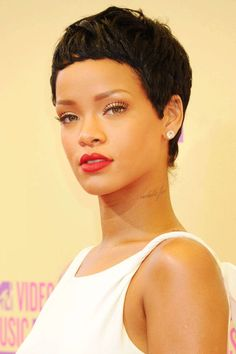 Rihanna. See the 33 other best celebrity pixie cuts in history.