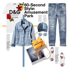 """""""60-Second Style: Amusement Park"""" by konstantinabday26oct72 ❤ liked on Polyvore featuring Dolce&Gabbana, Banana Republic, Abercrombie & Fitch, Polaroid, Urban Outfitters and Ashley Stewart"""