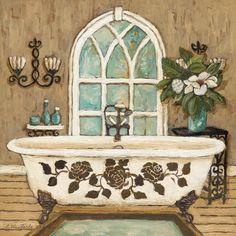 Country Bath Inn II by Charlene Olson 12x12 in. Art Print