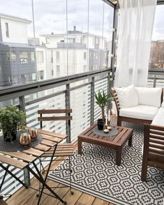Awesome 37 Cool and Cozy Small Balcony Design Ideas. More at http://dailypatio.com/2017/12/03/37-cool-cozy-small-balcony-design-ideas/