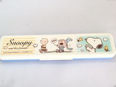 NOOPY Peanuts Chopsticks & Spoon Set Lunch Food Container Bento Box From Japan