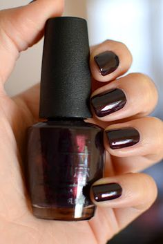 OPI Black Cherry Chutney. I am loving me some bold dark colors. Just ordered this. Can't wait til it gets here.