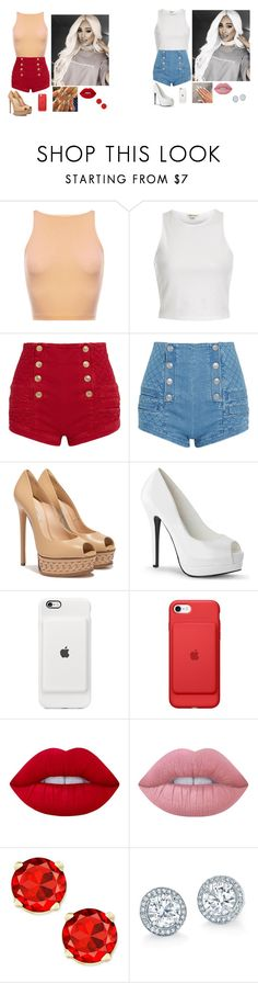 """""""."""" by bittersweetgrande ❤ liked on Polyvore featuring River Island, Pierre Balmain, Casadei and Lime Crime"""