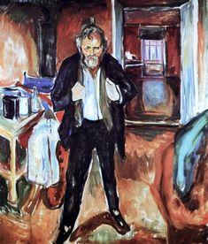 Edvard Munch (1863-1944, Norway) | Self-portrait, 1920