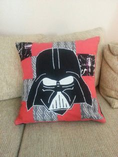 Created for a friend for his birthday present. He is a big Star Wars fan so this pillow was a no brainer. One method I use when creating pillow cases is patchwork. I get to use up a lot of small pieces of fabric that are leftover from other projects.