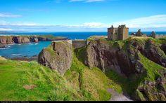 Dunnotar castle on the east coast of Scotland near Aberdeen