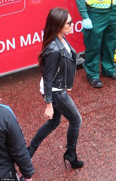 Victoria Beckham at the London marathon today
