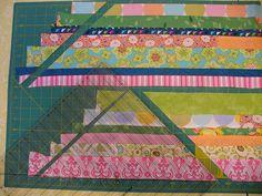 String quilt, no foundation piecing