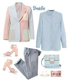 """""""A smile says so much"""" by musicfriend1 on Polyvore featuring Thom Browne, See by Chloé, MANGO, 7 For All Mankind, RED Valentino, Irene Neuwirth, Maybelline and Suzanne Kalan"""