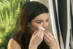 'I'm gonna get a tissue':Meanwhile, Jenner's daughter Kendall got so emotional while recalling her childhood memories of her father in the clip, she had to leave to get a tissue