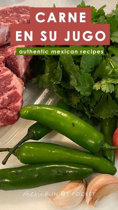 Carne en su Jugo recipe by Maria Plascencia. This classic dish from Guadalajara is a simple one-pot meal, but full of flavor. Authentic Mexican Recipes, Mexican Dinner Recipes, Mexican Cooking, Fun Easy Recipes, Raw Food Recipes, Pork Recipes, Easy Meals, Cooking Recipes, Healthy Recipes